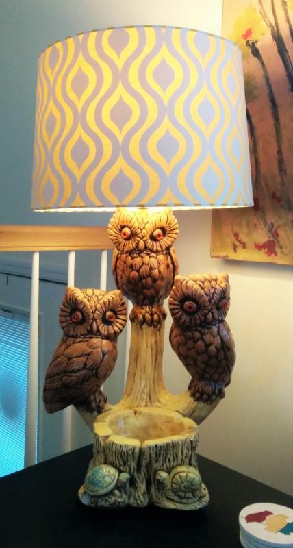Grandma & Grandpa Bower's Owl Lamp